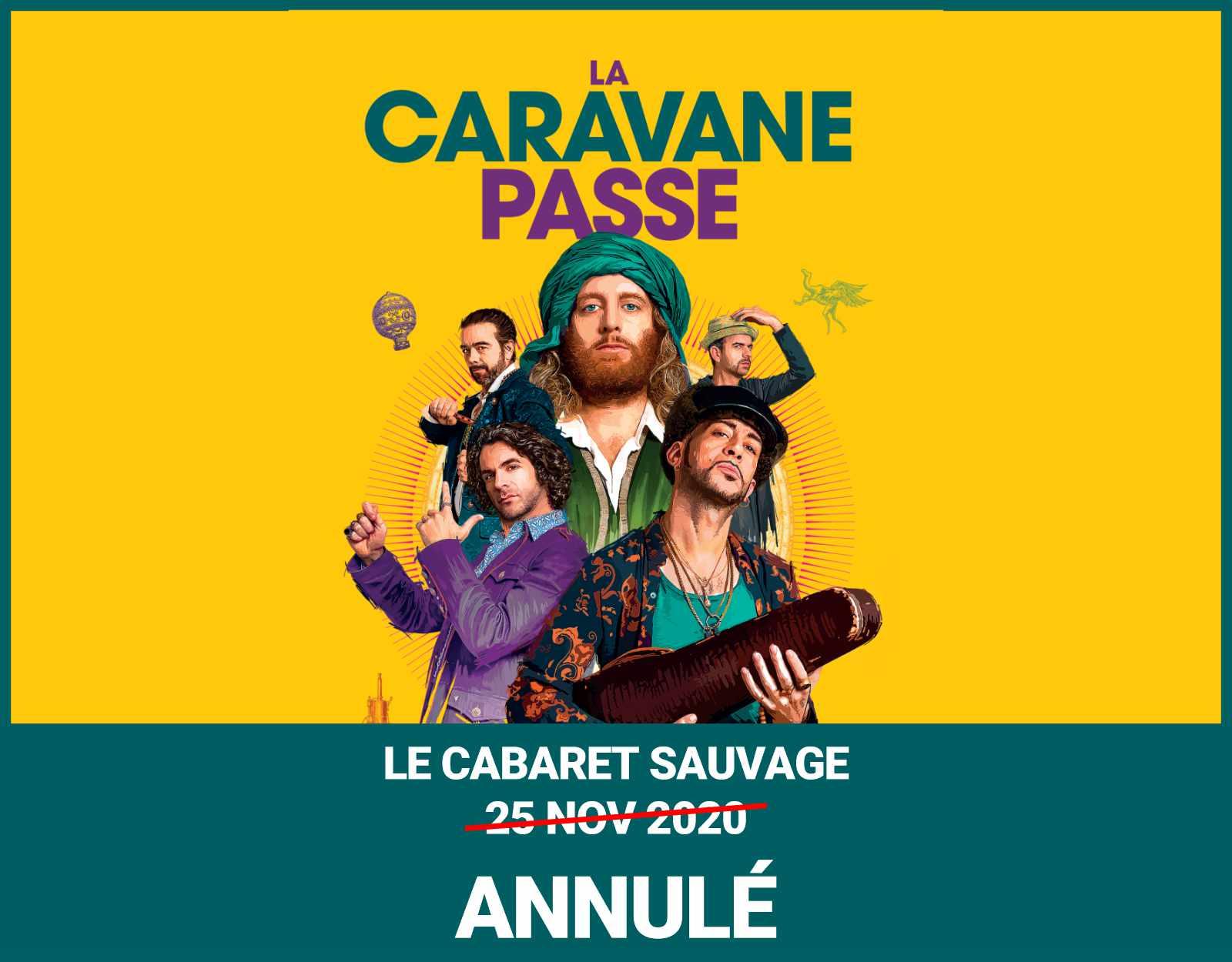 La caravane passe au cabaret sauvage concert annule